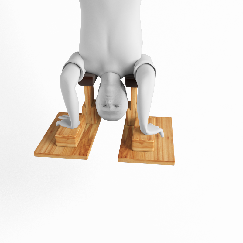 Rehabilitation Sirsasana Headstand Props Sport And